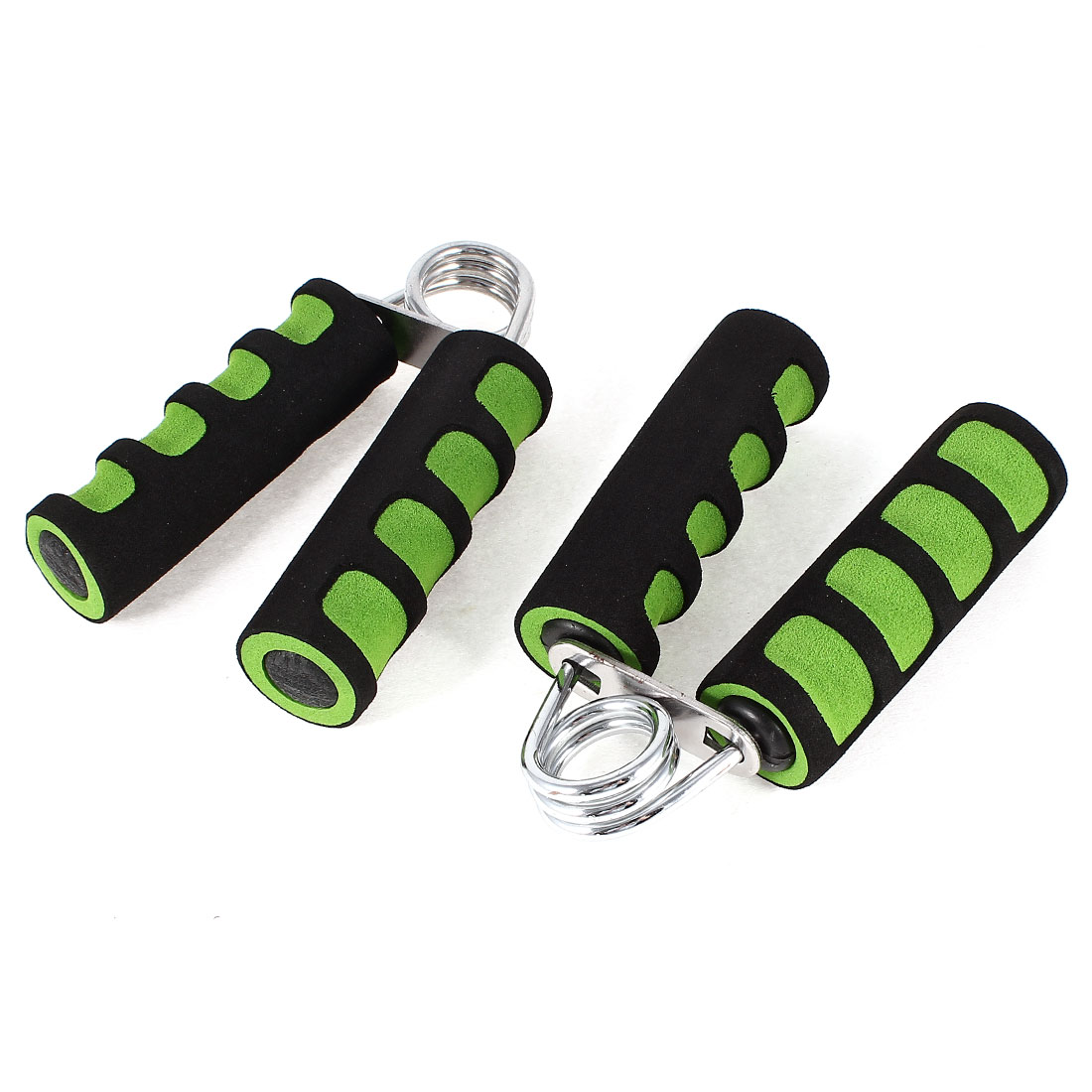 Fitness Exercise Hand Grippers Wrist Arm Strength Green Black 2pcs