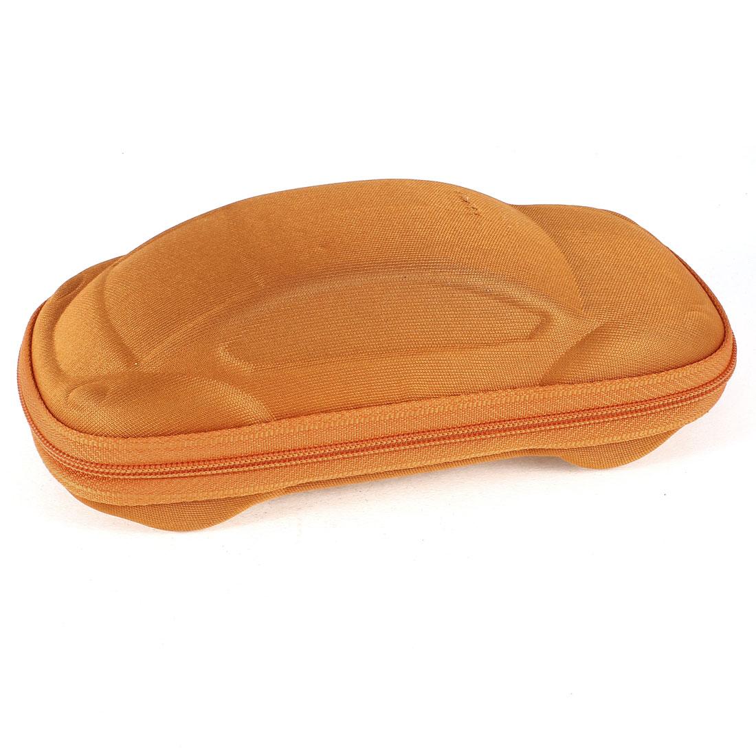Orange Car Shaped Zippered Spectacles Plain Glasses Box Case