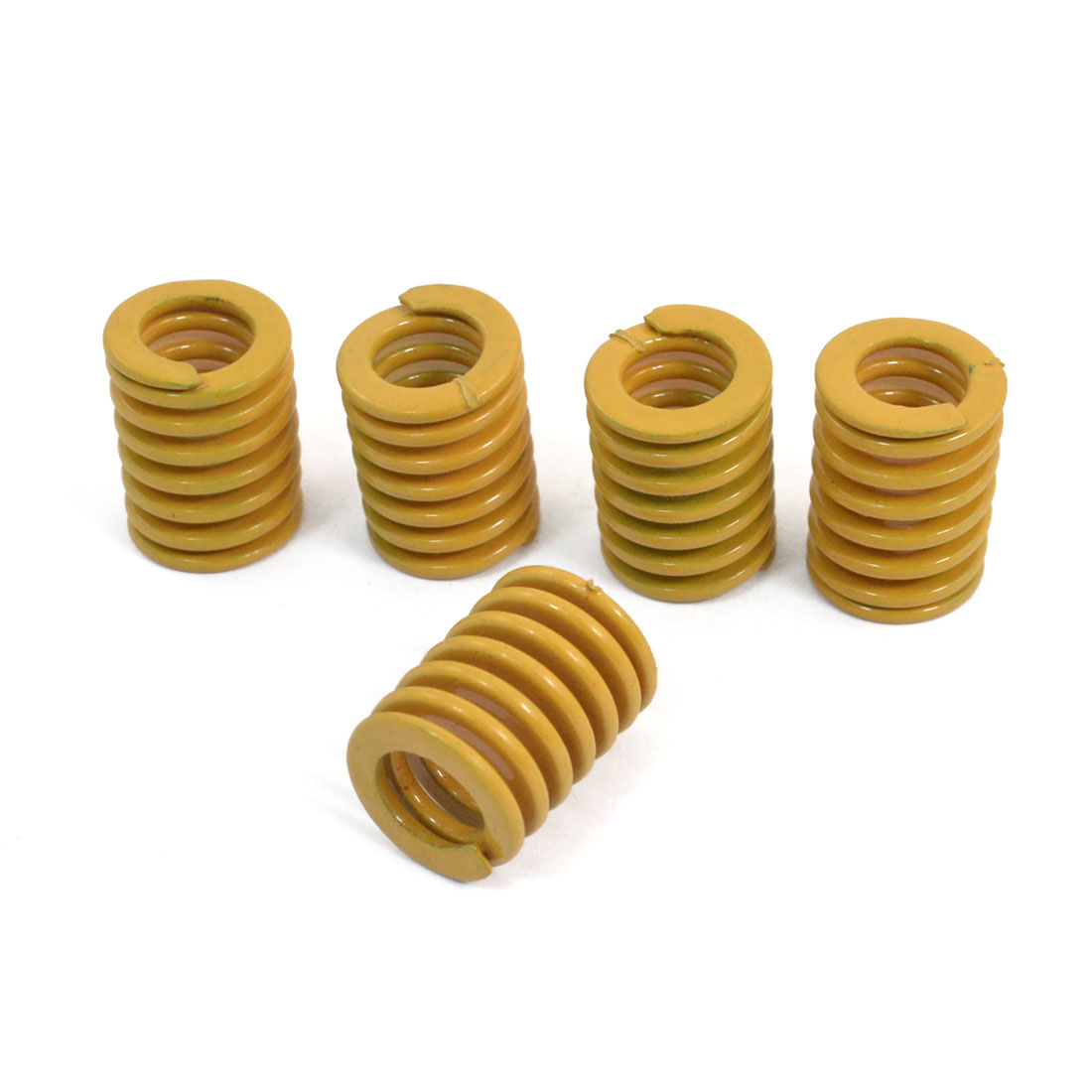 Orange 22mm x 16mm x 9mm Metal Tubular Section Mould Die Spring 5 Pcs