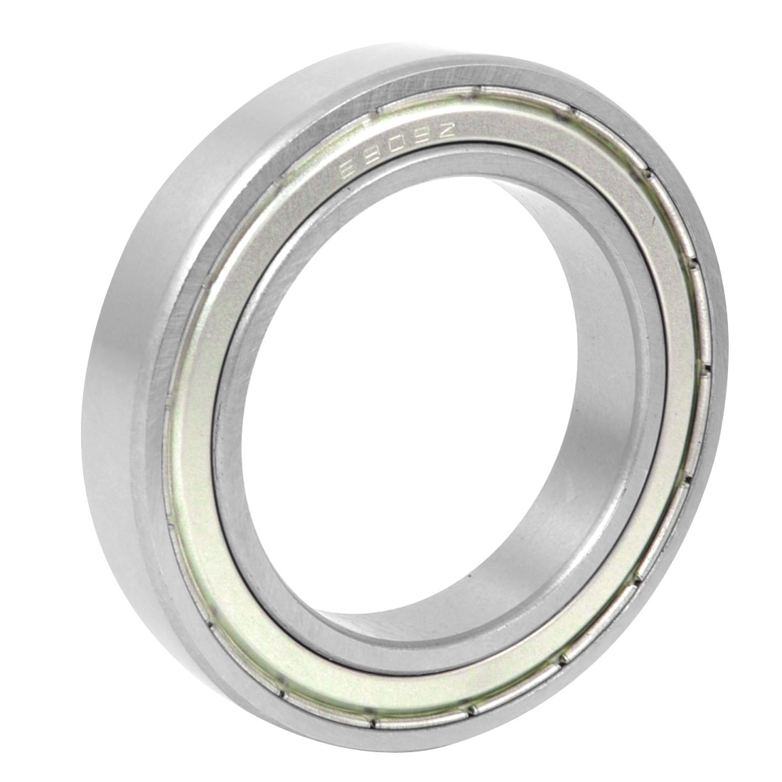 6909-Z Silver Tone Shielded Deep Groove Ball Bearings 45mm x 67mm x 12mm