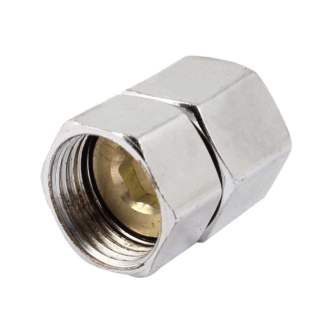 1/2PT Female Screw Pneumatic Connector Joint Adapter Silver Tone