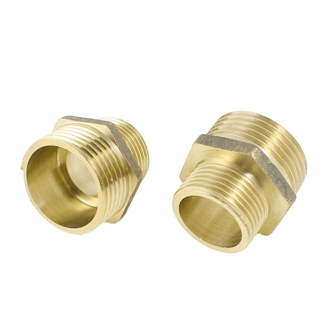 2PCS Hydraulic 3/4PT Male to 1PT Male Thread Pipe Hex Reducing Bushing Adapter