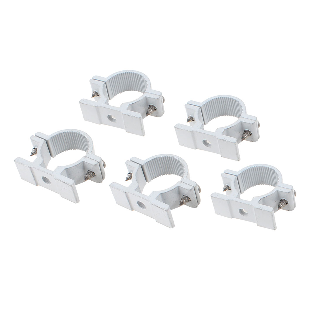 5 Pcs 25mm Diameter Water Supply Pipe Clamps Screw Clips Fitting
