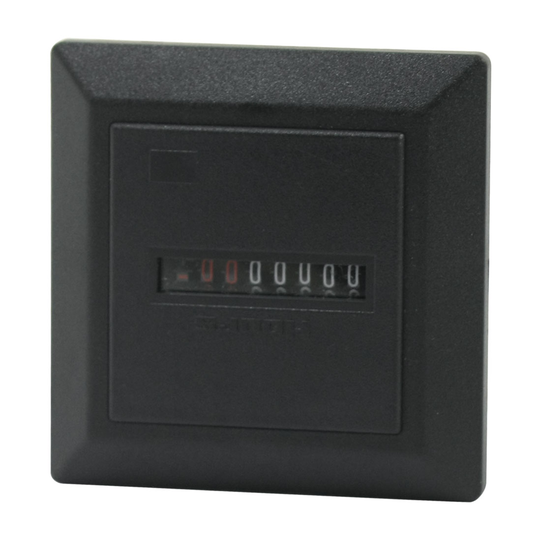 Panel Mounting 99.99999h 7-Digit 2 Screw Terminals Black Plastic Industrial Counter Hour Timer AC220-240V