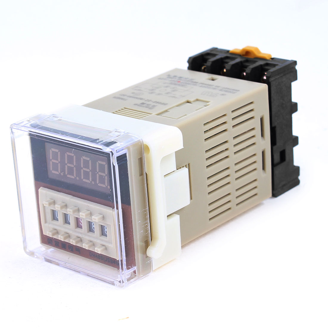 AC 24V DH48S-2Z Panel Mount DPDT 8Pin 0.01s-99H99M Adjustable Time Delay Control Programmable Timer Relay w Base Socket