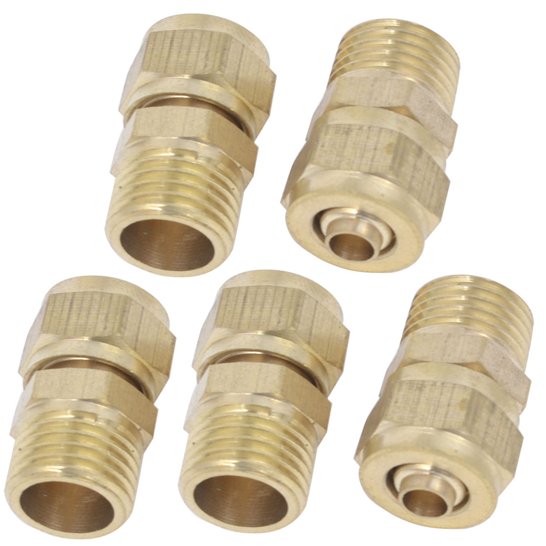 5 Pcs 8mm OD 5mm Inner Dia Hose Pneumatic Air Quick Coupler Socket Connector