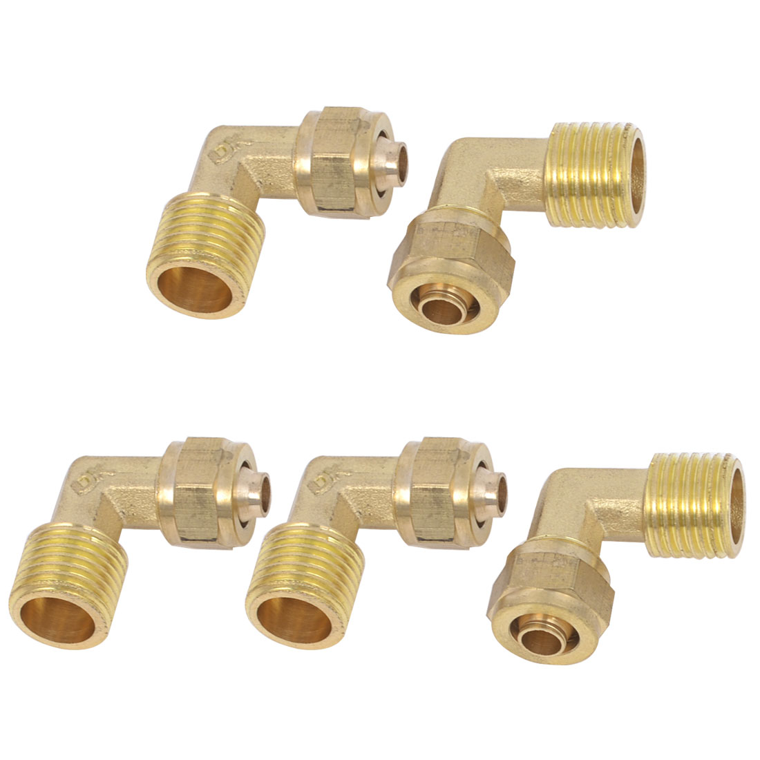 5 Pcs Brass 8mm x 6mm Hose Pneumatic Pipe Hose Brass Quick Coupler Connector