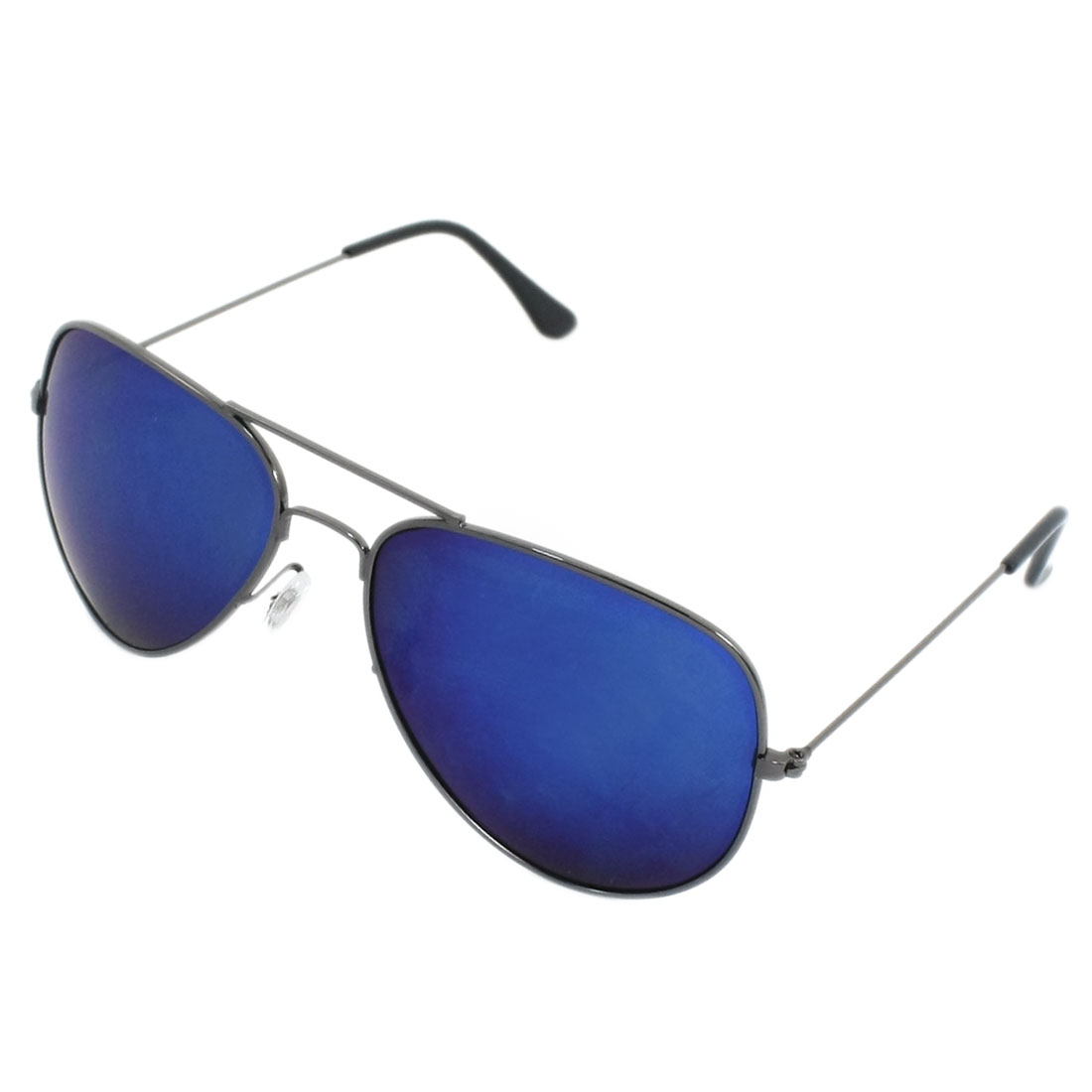 Blue Lens Metal Full Rim Leisure Polarized Sunglasses for Man