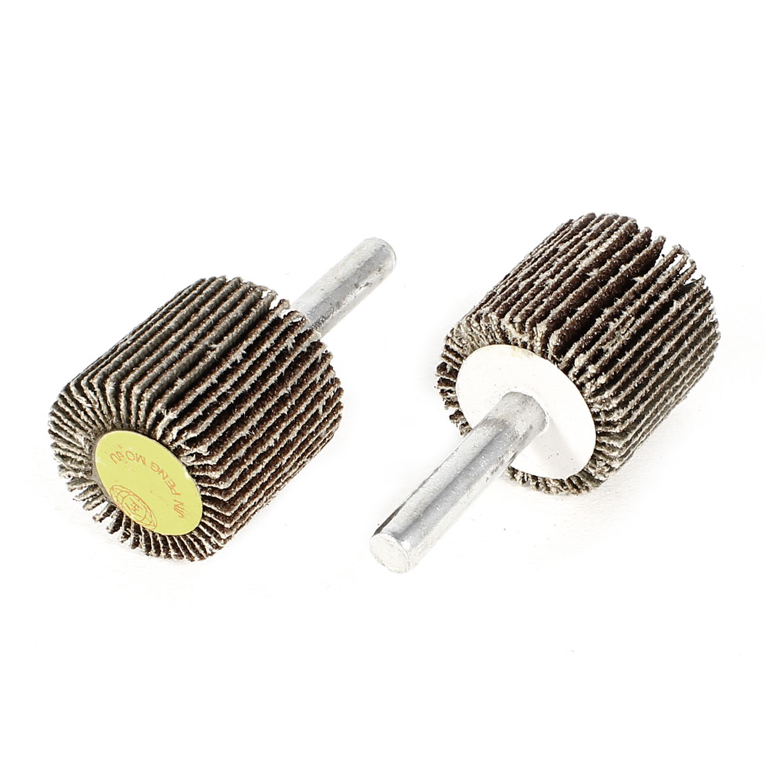 "2pcs Replacement 2"" Length Abrasive Mounted Flap Wheels Brush 6x25mm"