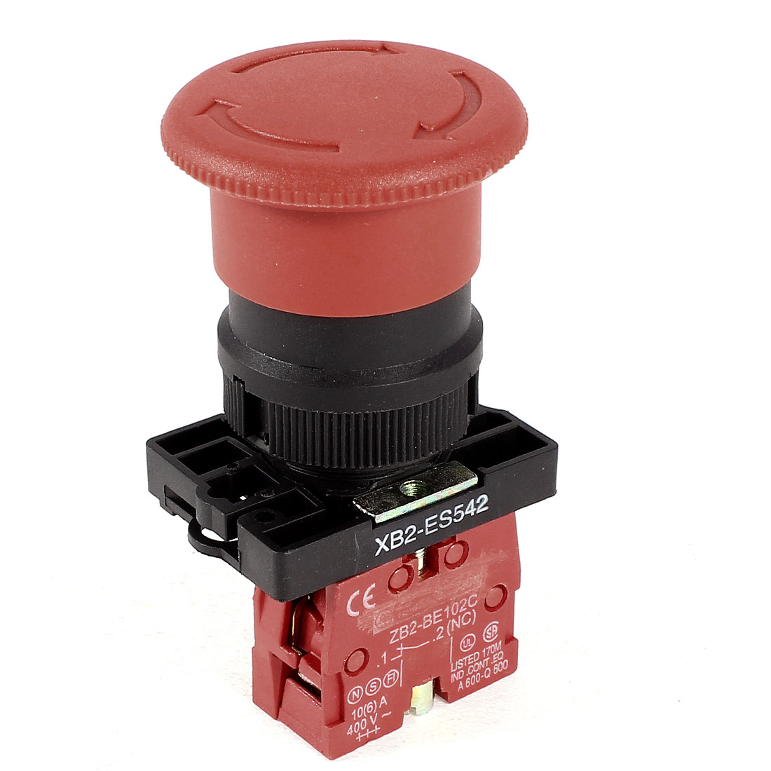 XB2-ES542 Red Mushroom Emergency Stop Push Button Switch 1 NC 600V 10A