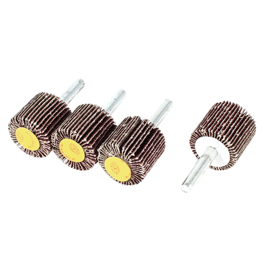 25mm Head 6mm Shank Abrasive Mounted Flap Wheels Brush 4 Pieces