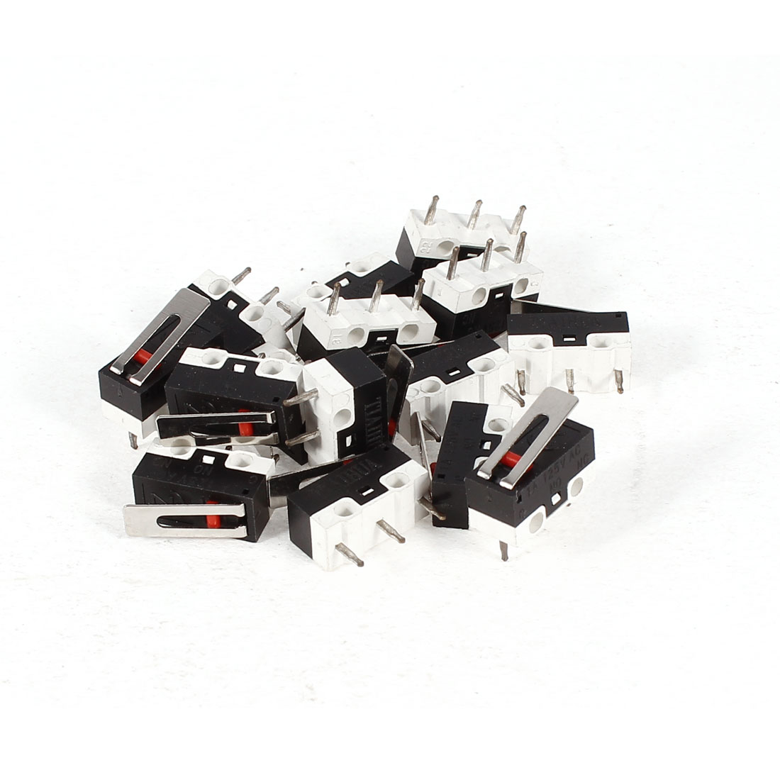 15 Pcs AC 125V 1A SPDT 1NO 1NC Momentary Short Hinge Lever Micro Switch