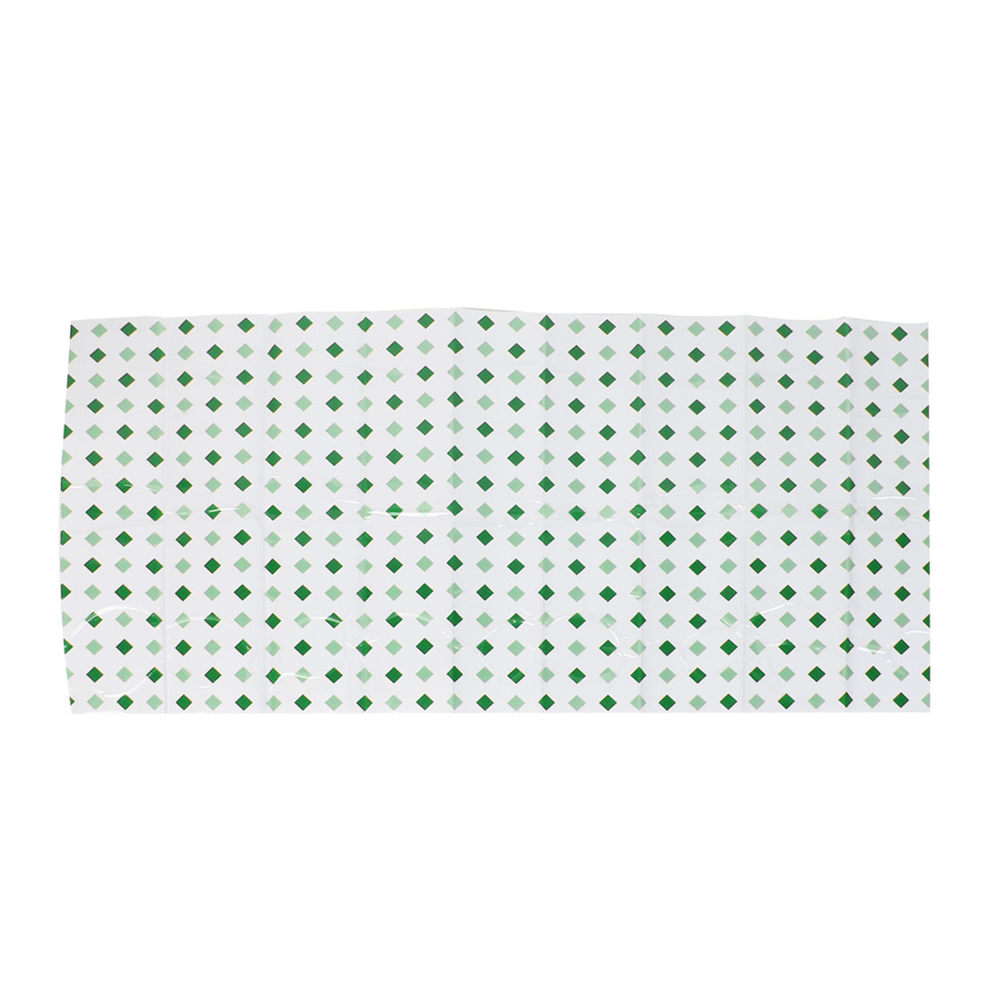 Kitchen Two Tone Green Rhombus Print Wall Greaseproof Paper 90 x 45cm