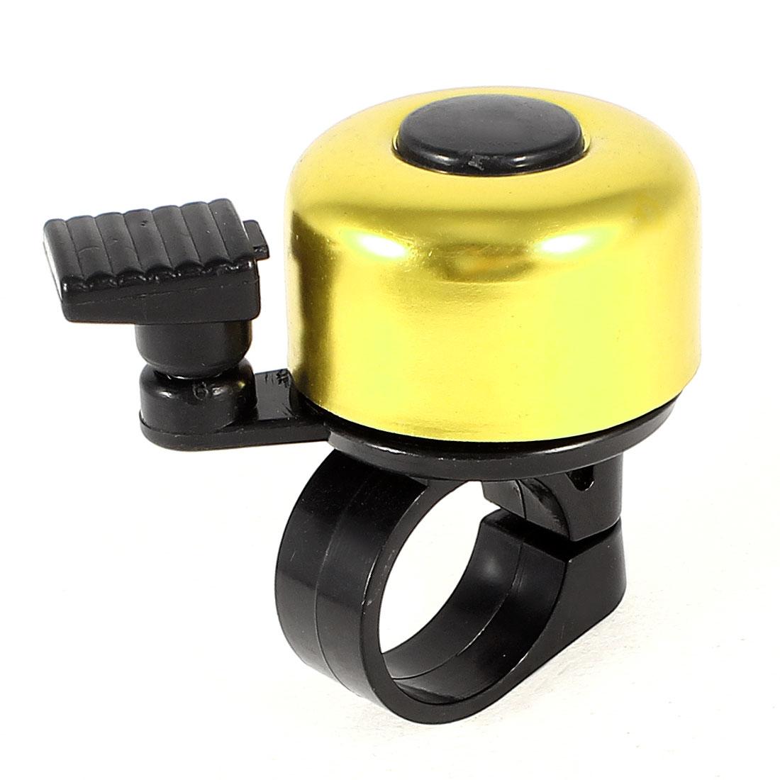 Round Housing 21mm Dia Handlebar Alarm Ring Bell Black Gold Tone