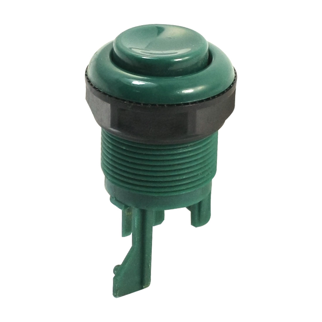 Panel Mounting 28mm Thread Green Black Plastic Round Arcade Game Push Button for Amusement Machine