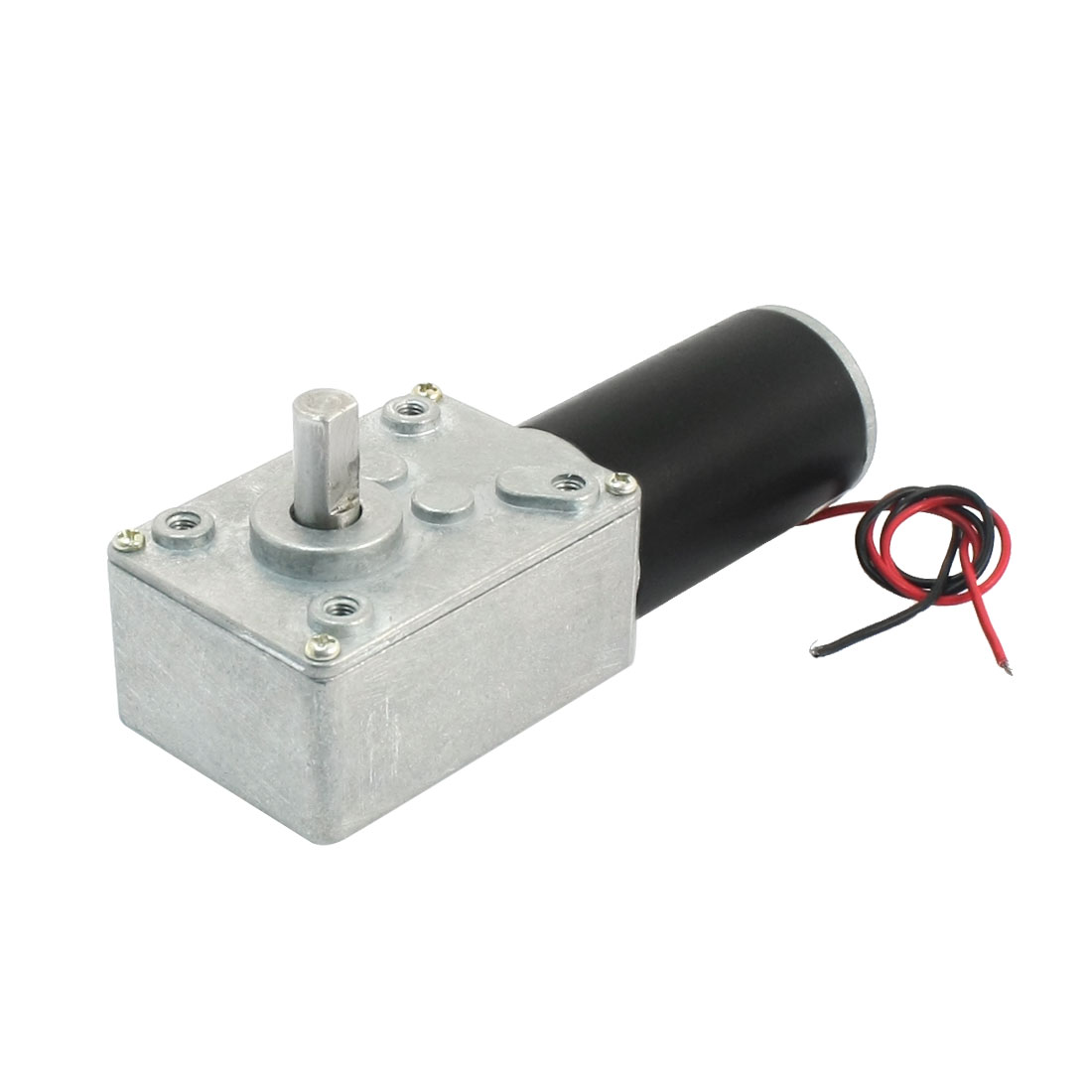 19cm Long Dual Wire Lead 5500/50RPM Speed Reduce Worm Gear Motor DC24V