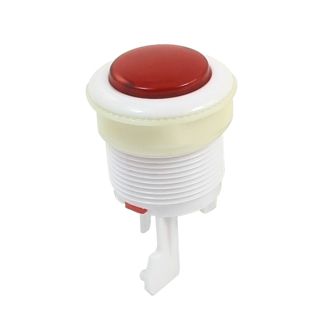 28mm Thread Panel Mounting White Red Plastic Round Push Button for Arcade Game