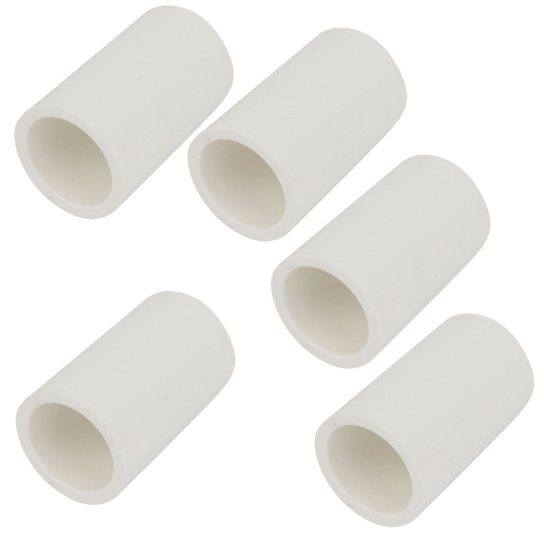 5 Pcs PVC-U 20mm Drinking Water Pipe Insider Adapter Connector White