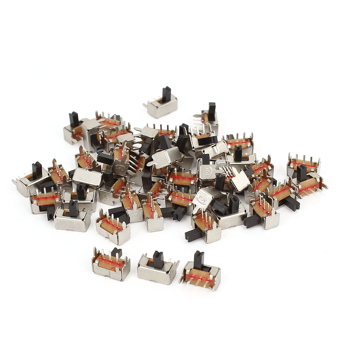 50Pcs 3Pin 2-Position PCB Mount SPDT Right Angle Miniature Slide Switch AC 250V 3A