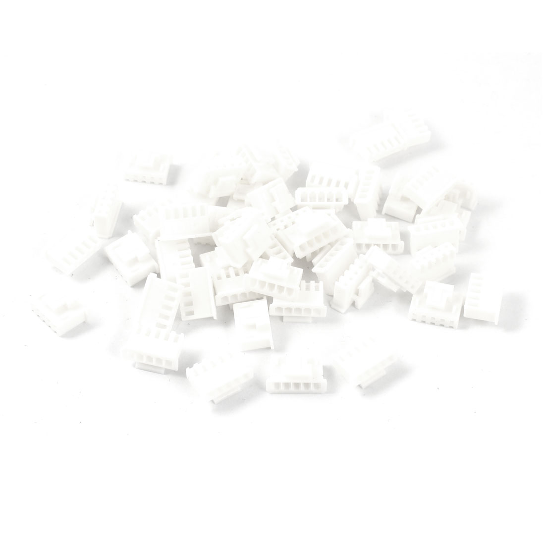 50Pcs 5 Pin 2.4mm Pitch White Plastic Female Balance Charger Connector Plug Housing w Clip for Lithium Battery