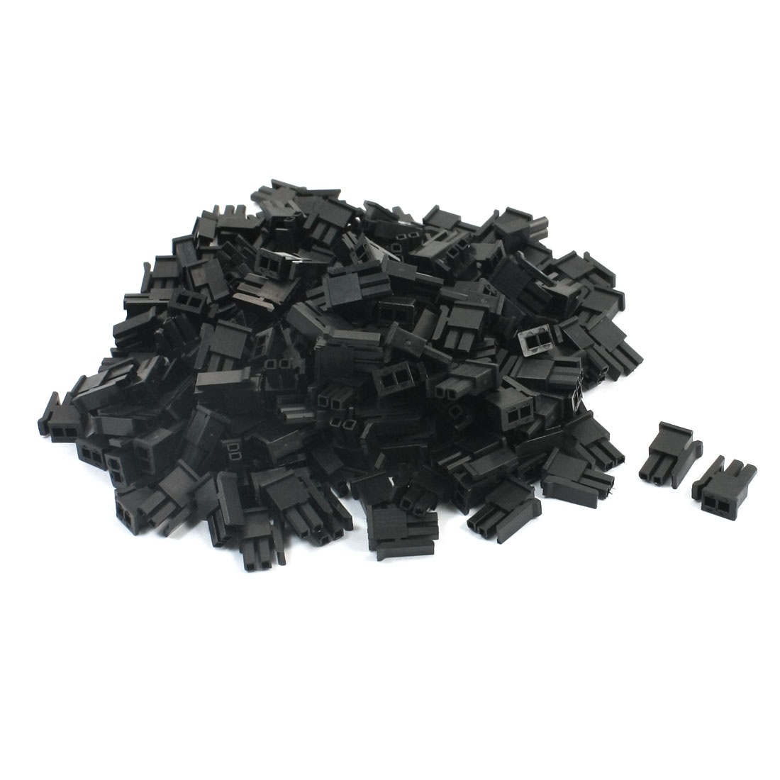 200Pcs 2.5mm Pitch Black Plastic Female Connector Plug Housing Shell w Clip for RC Model Lipo Battery Charger