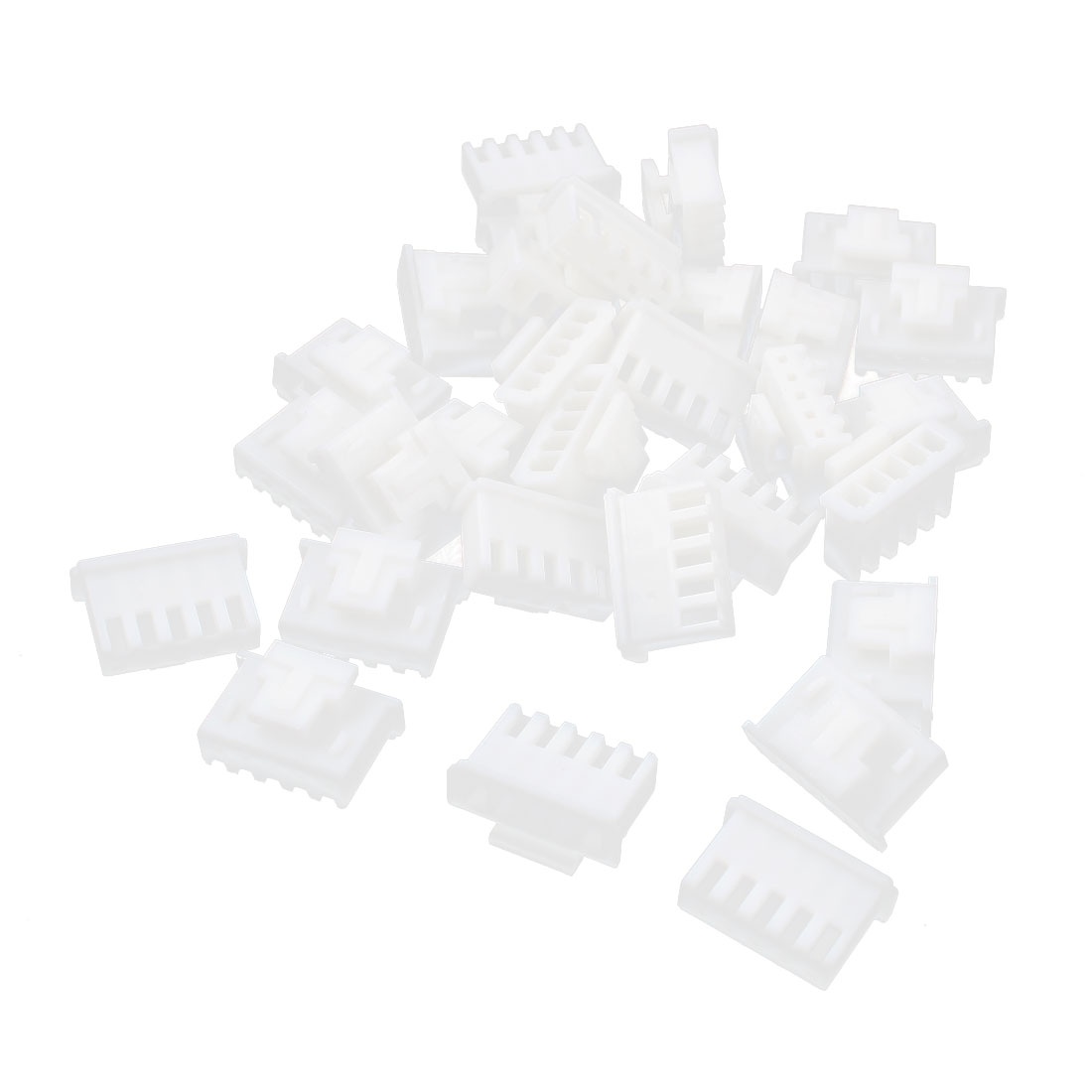 30 Pcs XHB-5Y 5-Pin 2.4mm Pitch White Plastic Female Balance Charger Connector Housing w Clip for Lithium Battery