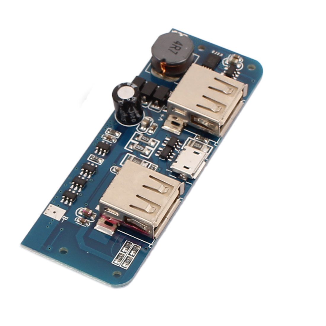 DIY Mobile Power Dual USB Output DC 5V Boost Step-up Voltage PCB Board Module w LED