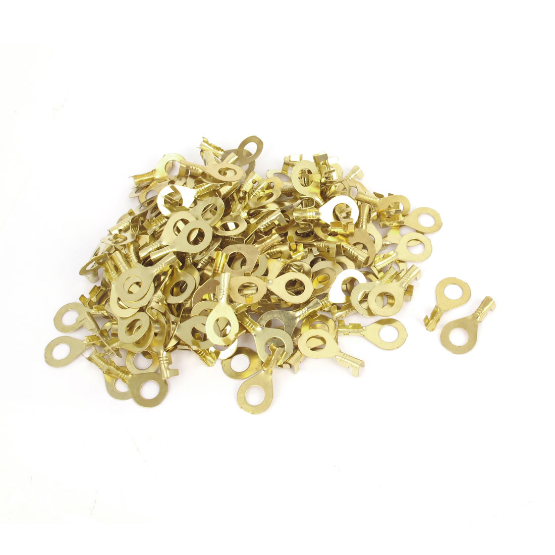 200 Pcs 17A AWG9-3 Wire Cable M6 Stud Connecting Copper Tongue Rewirable Non-insulated Ring Terminals