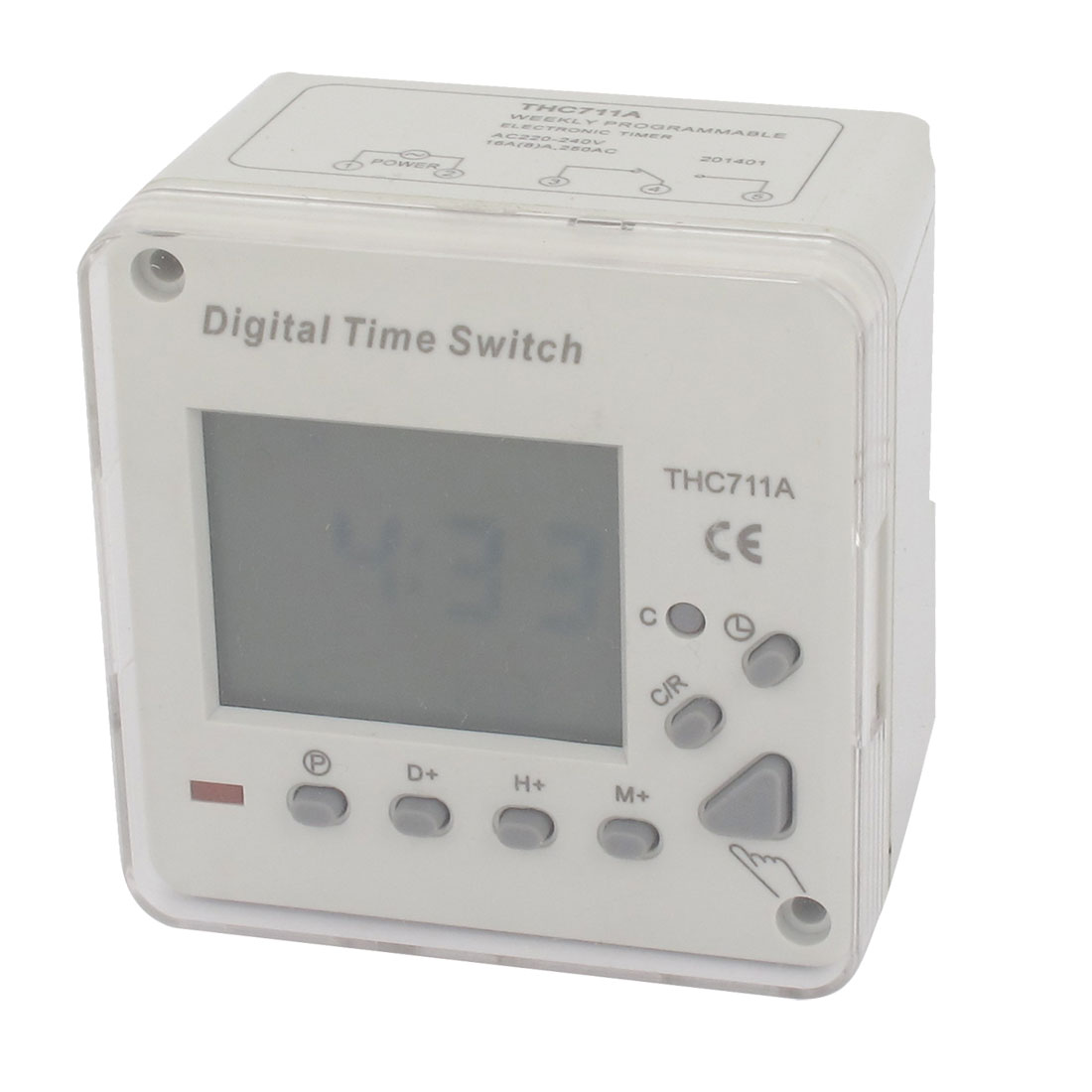 Digital LCD Display Programmable Timer Time Relay Switch THC711A AC 250V 8A