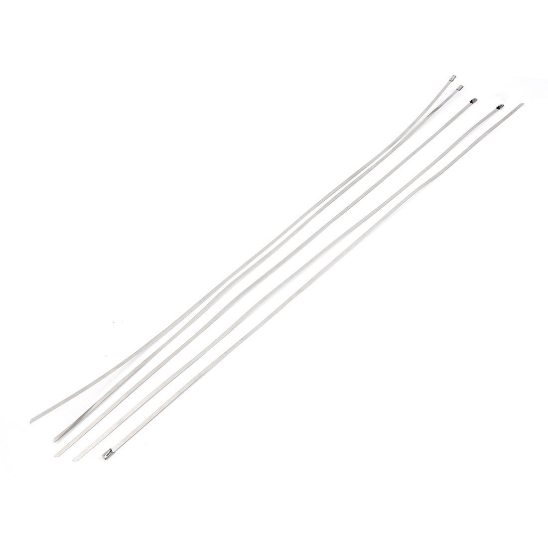 700mm Long 4.6mm Wide Stainless Steel Sprayed Cable Tie 5PCS