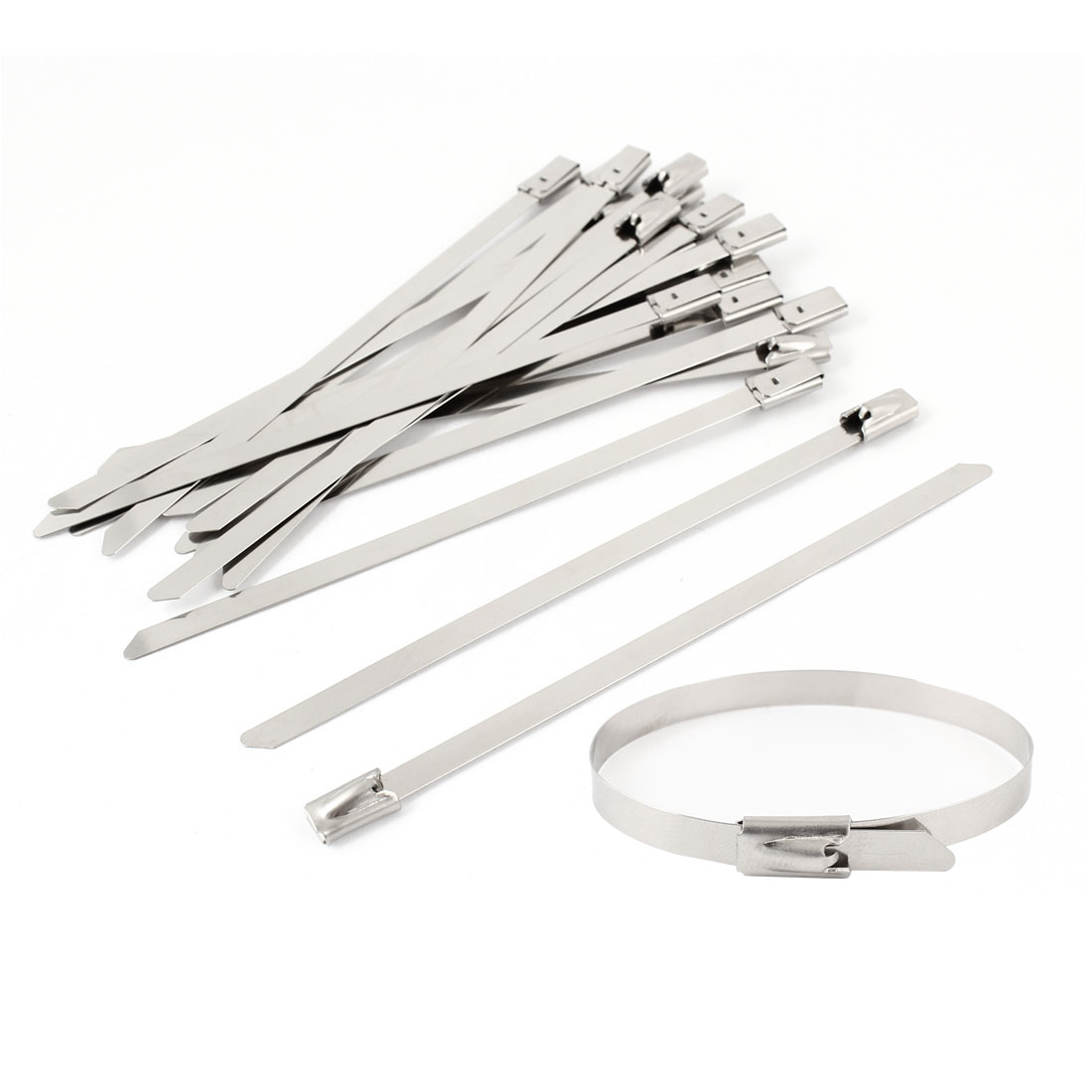 100mm Long 4.6mm Wide Stainless Steel Sprayed Cable Tie 20PCS