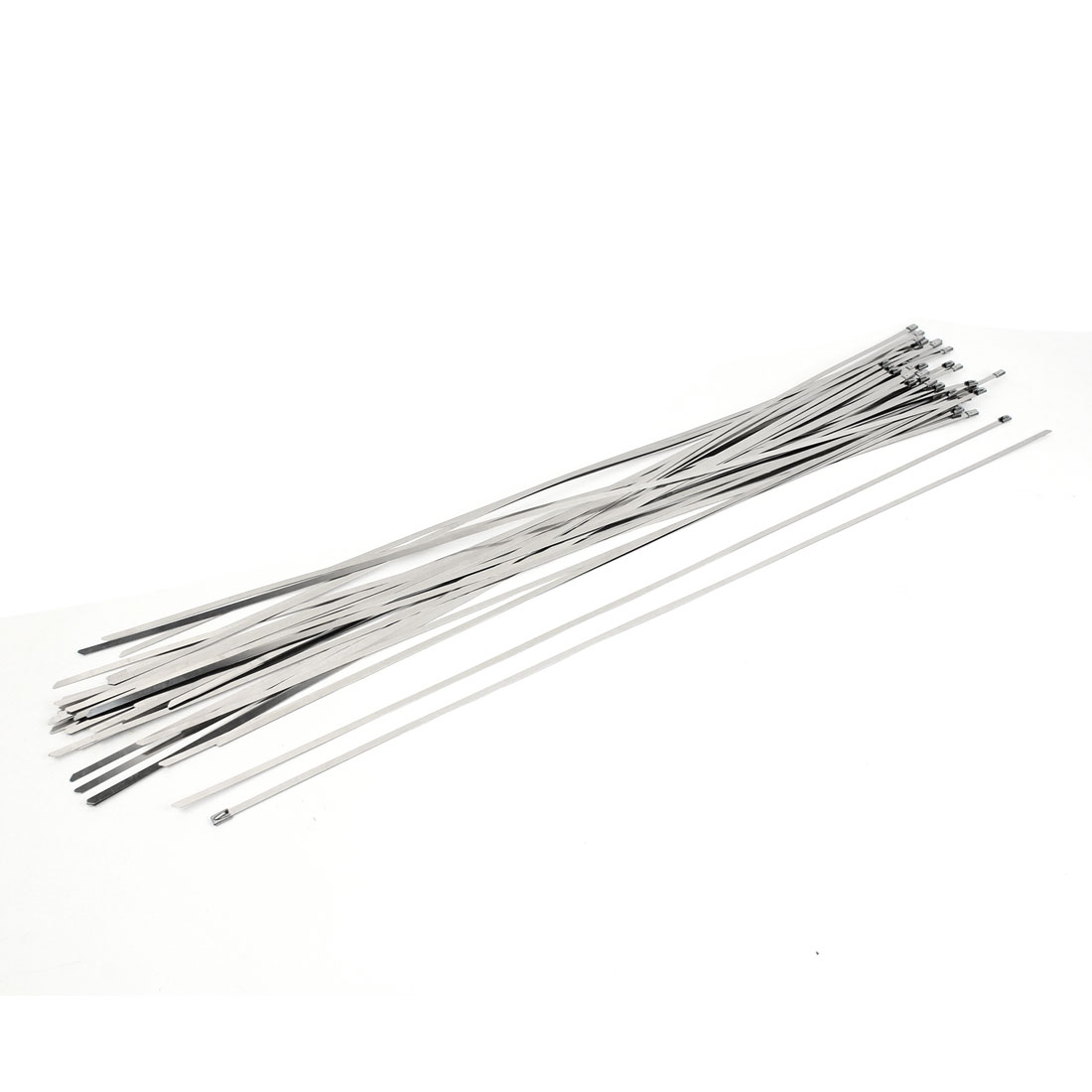 700mm Long 4.6mm Wide Stainless Steel Sprayed Cable Tie 50 PCS