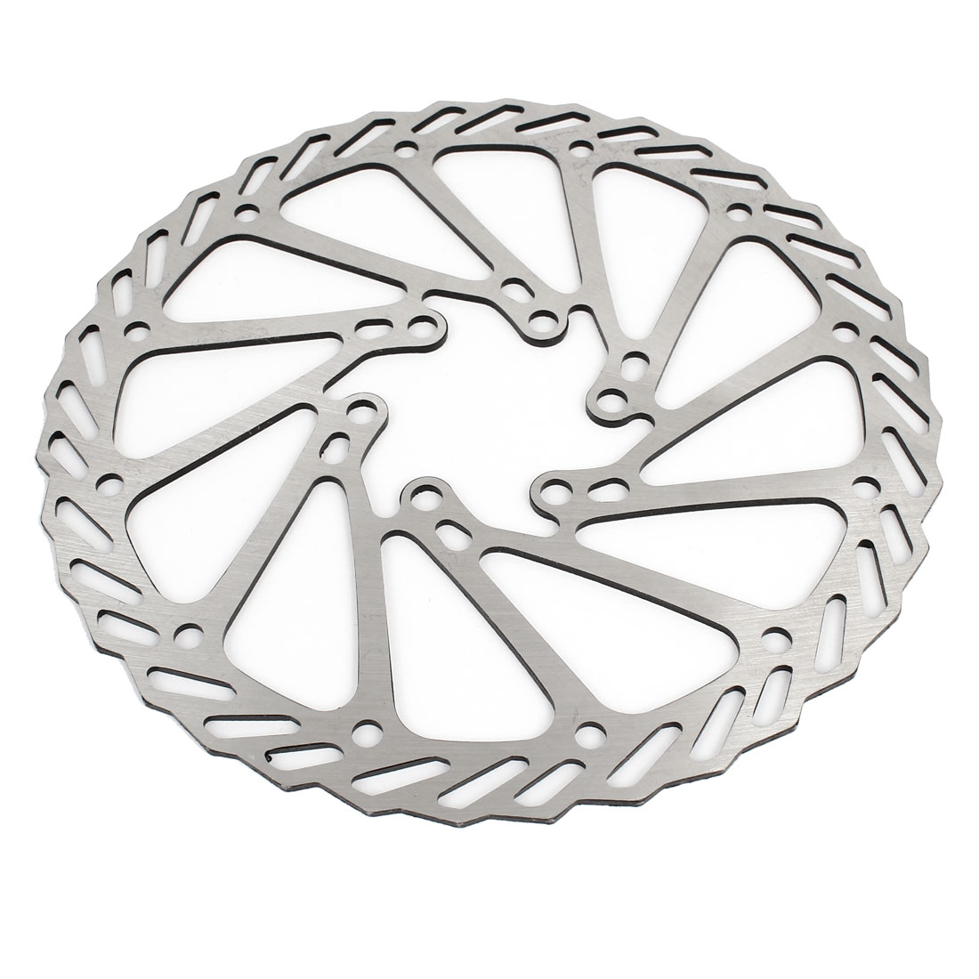 Bicycle Silver Tone Decorative 160mm Diameter MTB Disc Brake Rotor