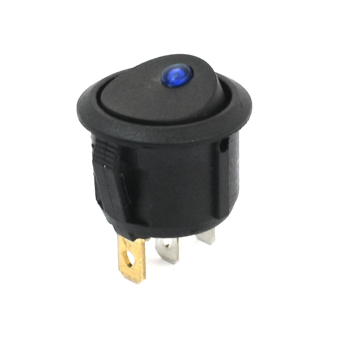 Car Auto Blue Pilot Light SPST 2 Position ON/OFF 3 Pin Snap In Round Boat Rocker Switch DC 12V