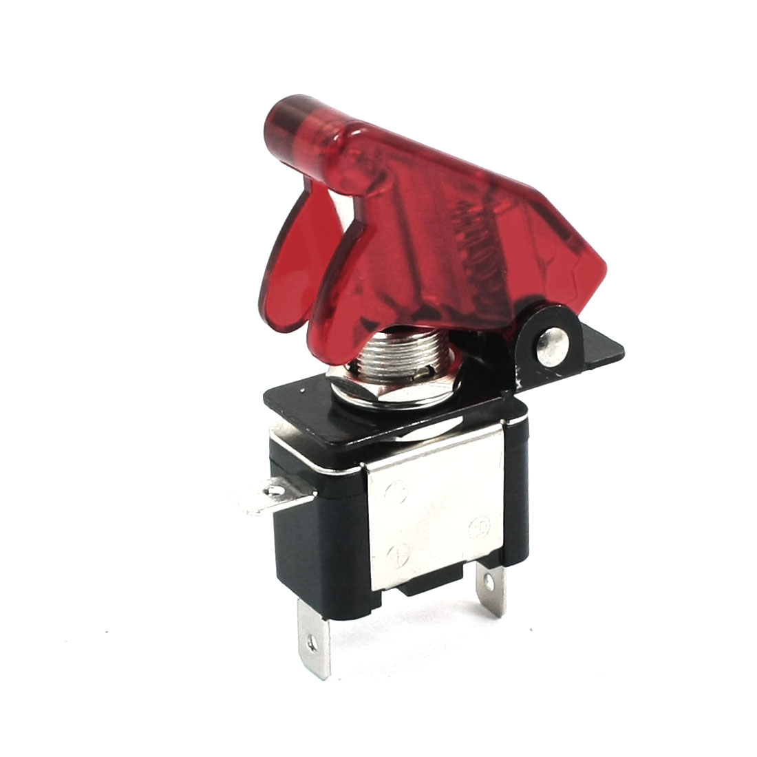 Car Boat Waterproof Cap Red Light SPST On/Off 2 Position 3 Terminals Toggle Switch DC12V 20A