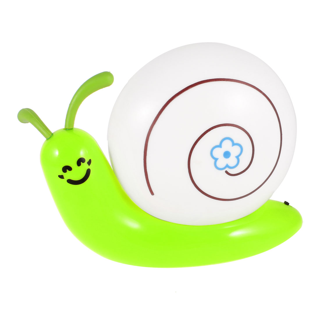 Green Snail Shaped White LED USB Rechargeable Night Light Bedroom Lamp