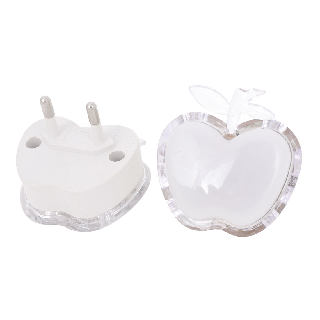 2 Pcs Apple Shape Red Blue Green LED Light Night Lamp AC 120-250V EU Plug