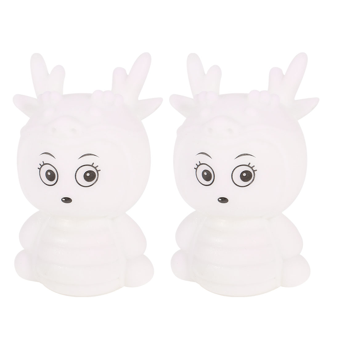 2 Pcs Dragon Baby Shaped Colorful LED Night Light Table Lamp
