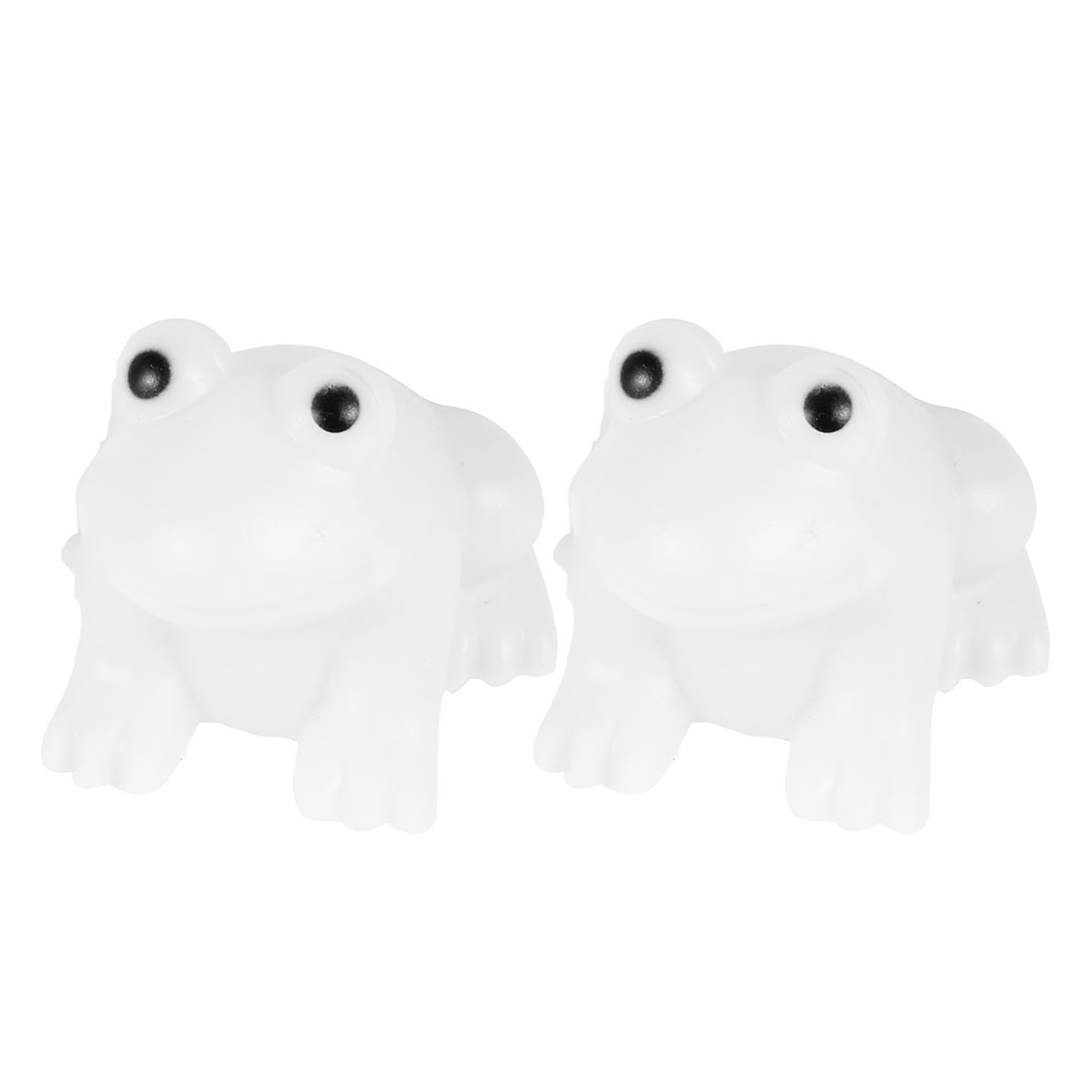 2 Pcs Batteries Powered Frog Shaped Colorful LED Night Light Lamp