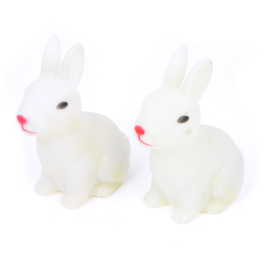 Home Decor Rabbit Design Multicolor Night Light LED Lamp Gift White 2 Pcs