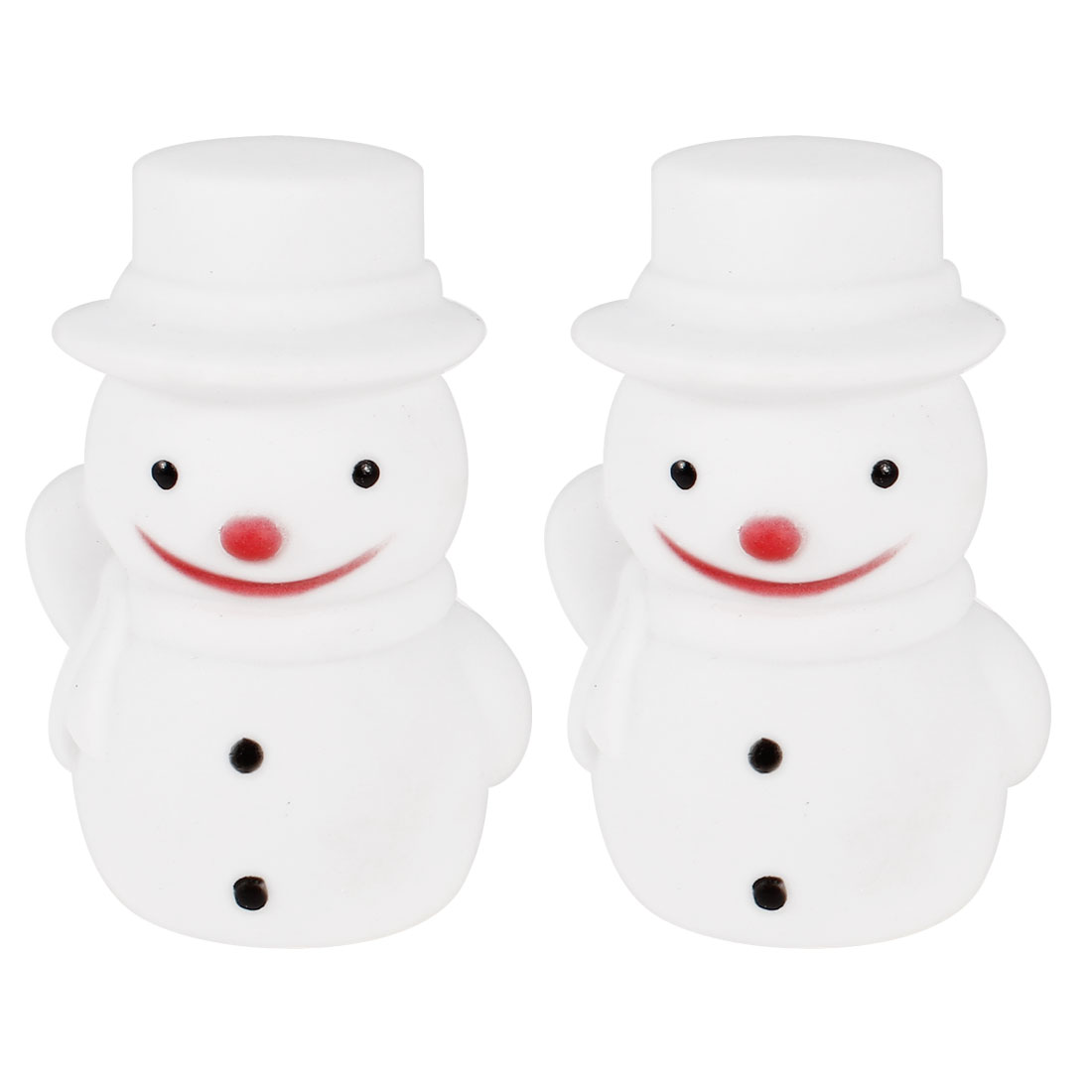 2 Pcs Snowman Shaped Colorful LED Night Light Table Lamp White