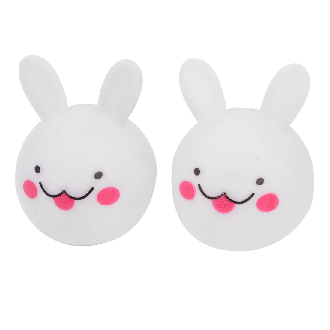 Home Decor Rabbit Head Design Multicolor Night Light LED Lamp White 2 Pcs
