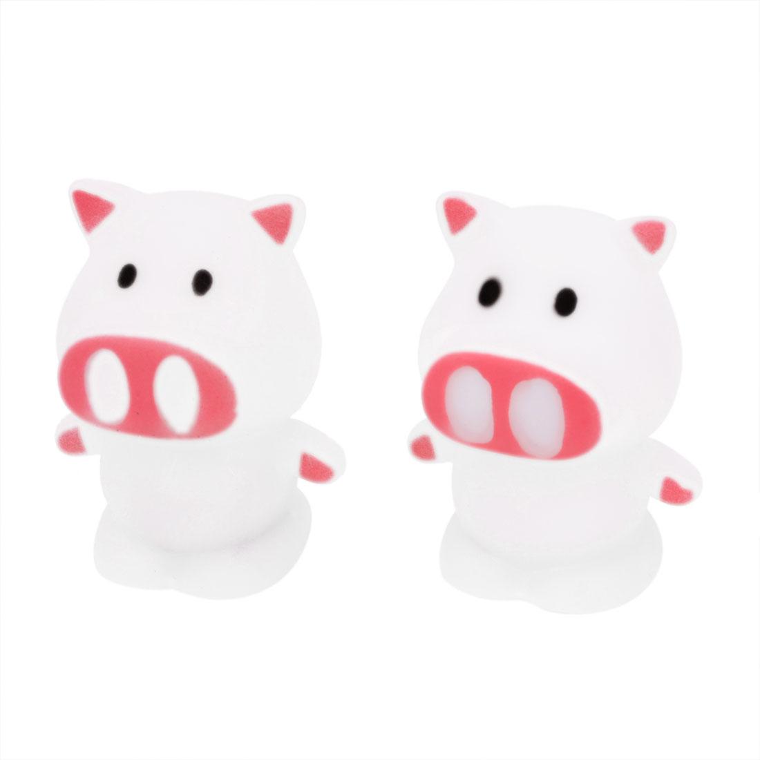 Pig Shape Color Changing Flash Night Light LED Lamp Decor White 2 Pcs