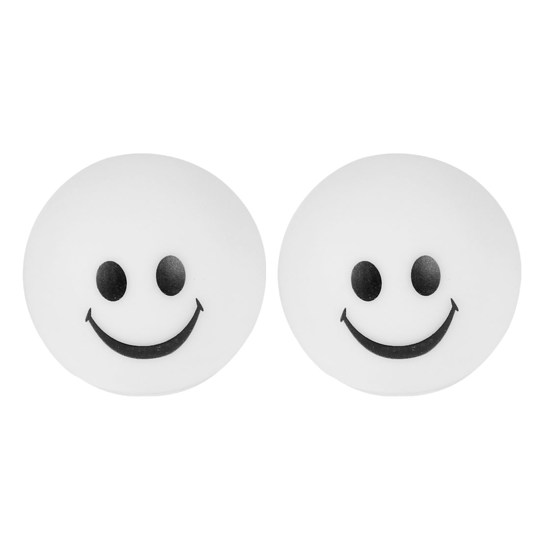 2 Pcs Smiling Face Shaped Colorful LED Night Light Table Lamp