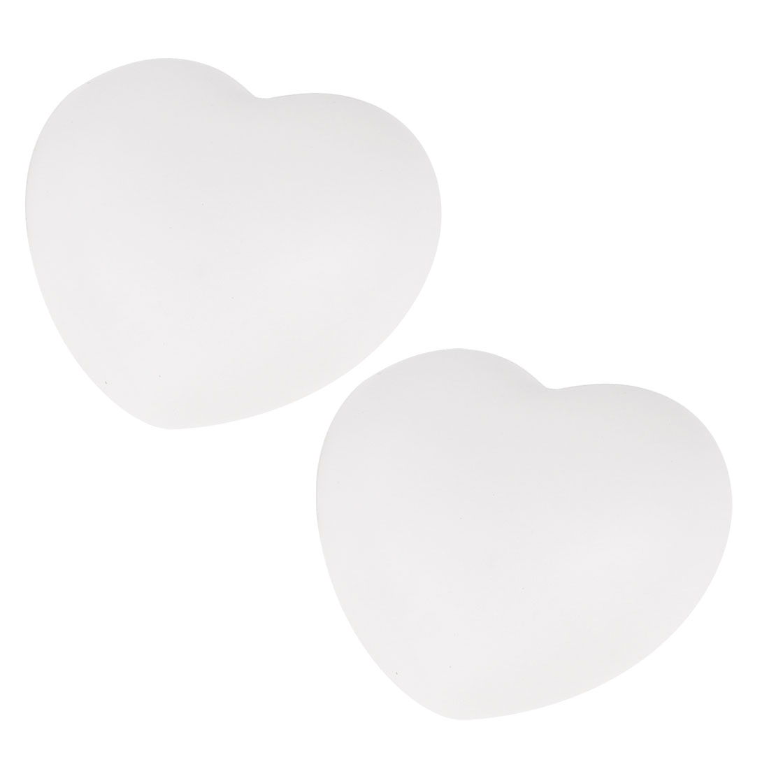 2 Pcs Peach Heart Shaped Colorful LED Night Light Lamp White