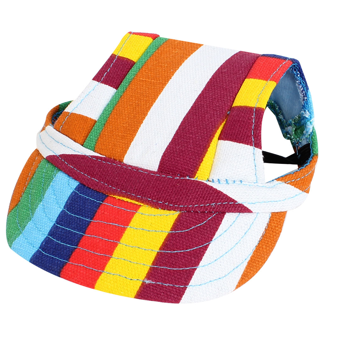 Stripe Pattern Elastic Chin Belt Pet Dog Doggy Baseball Cap Visor Hat Assorted Color