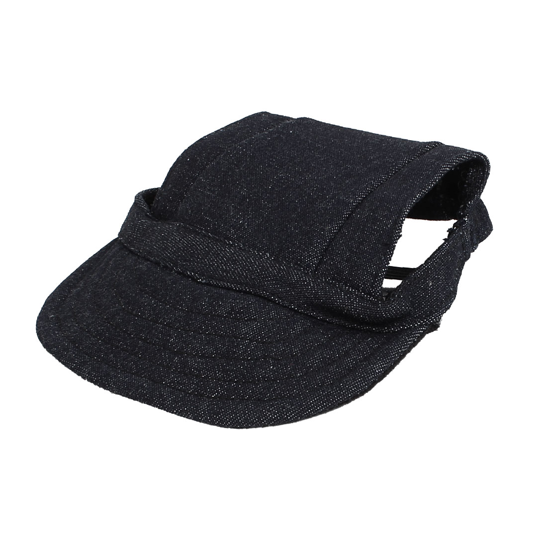 Elastic Chin Strap Pet Dog Doggy Baseball Cap Visor Hat Dark Blue