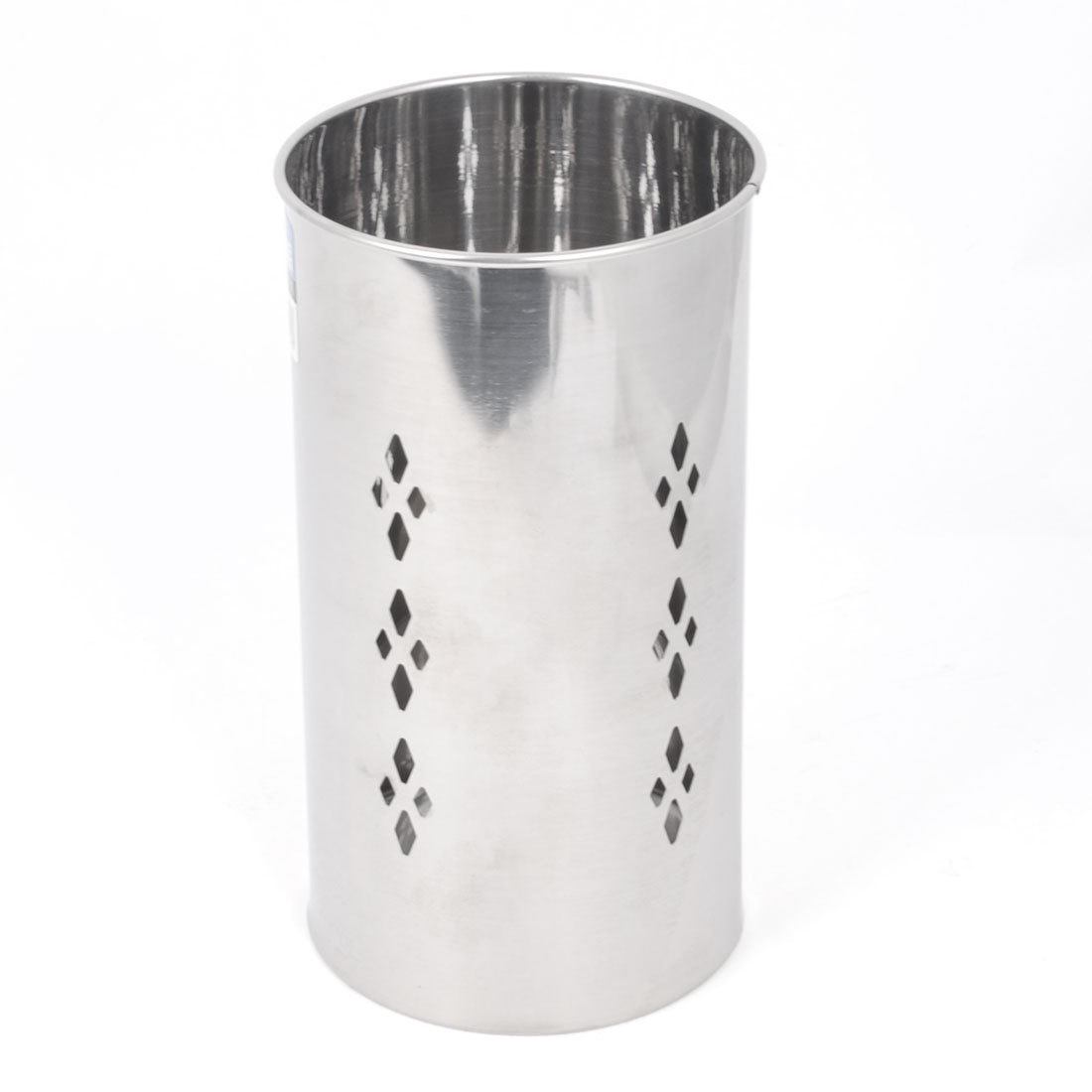Home Rhombus Hollow Out Hole Stainless Steel Spoon Chopsticks Holder Box