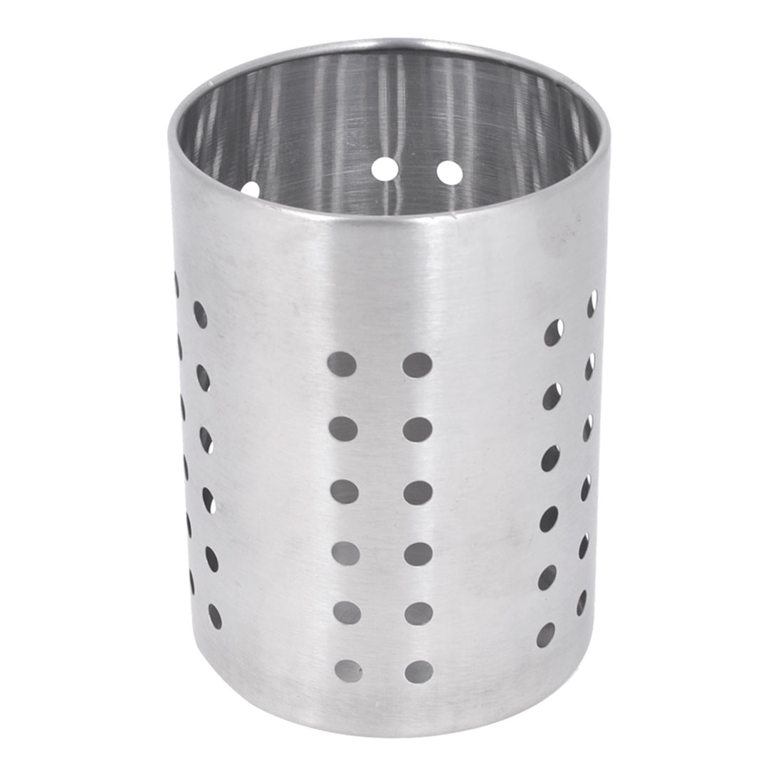 Home Round Hollow Out Hole Stainless Steel Spoon Chopsticks Holder Box