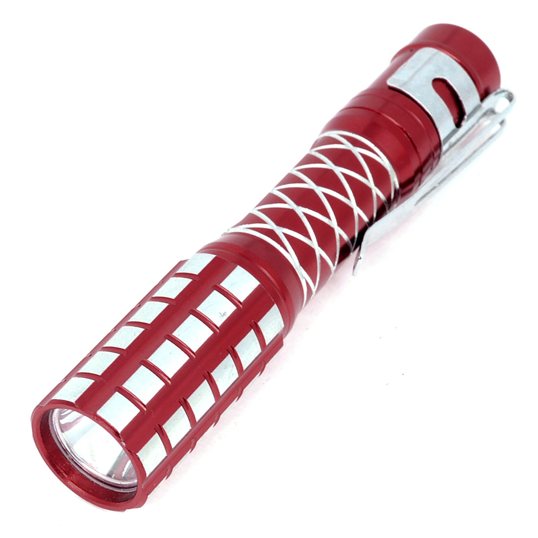 Battery Powered Press Button White LED Flashlight Mini Torch Red